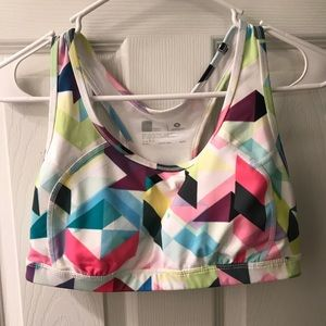 Geometric pattern sports bra purchased from Target